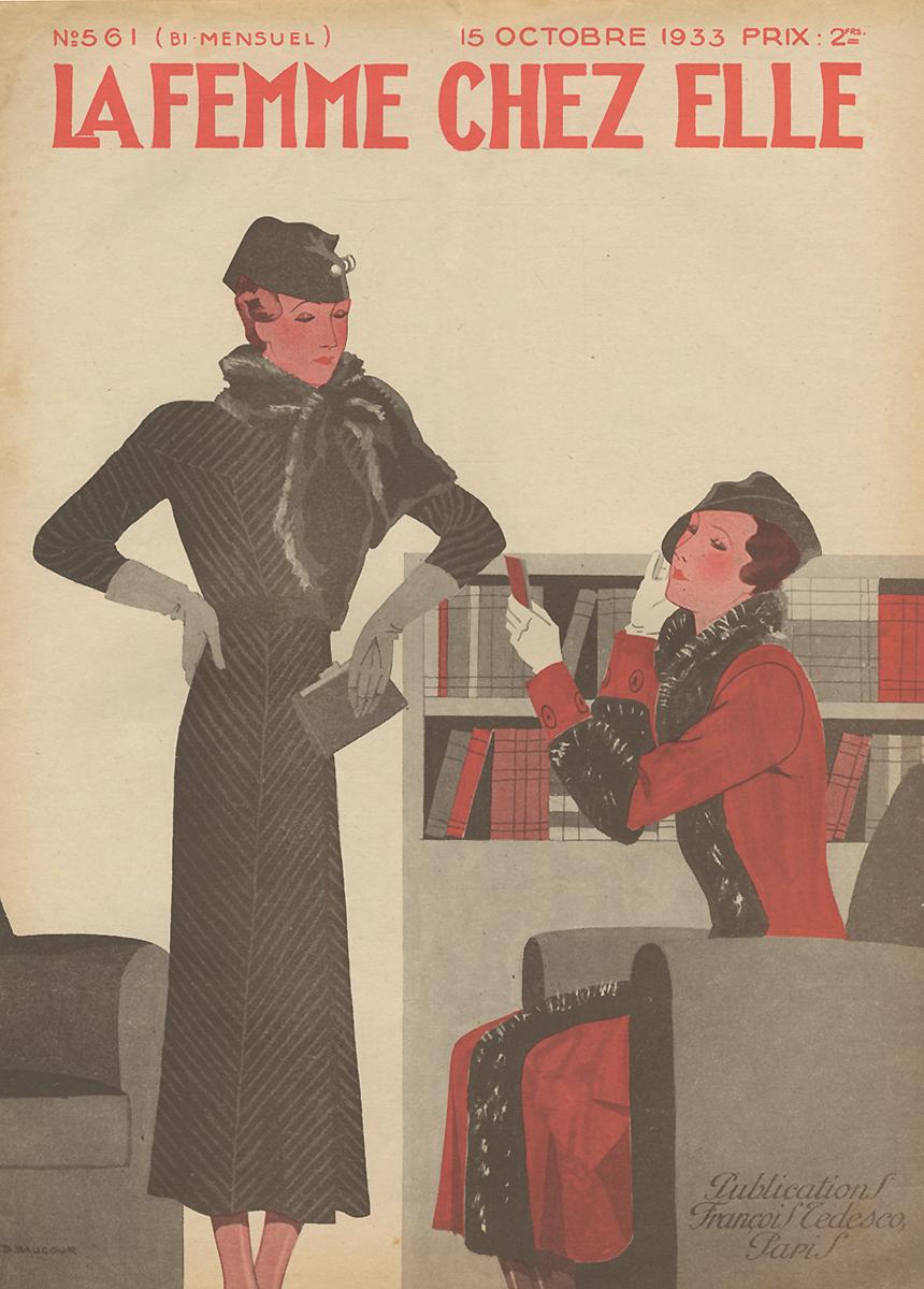 La Femme chez Elle (Женщина у себя дома), №561, октябрь 1933