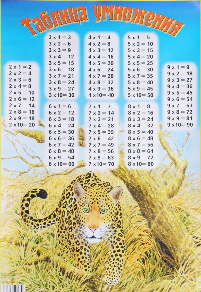 Таблица умножения. Плакат ( 978-5-00040-120-0 )