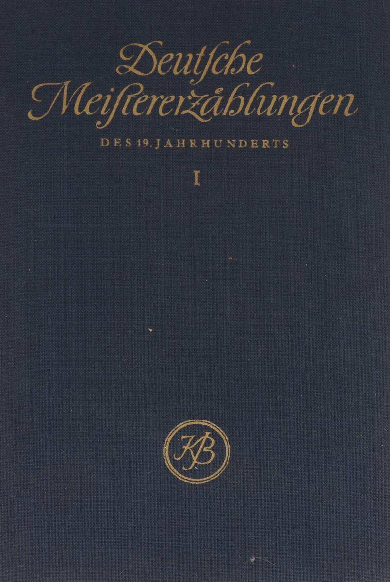 Deutsche Meistererzahlungen des 19. Jahrhunderts