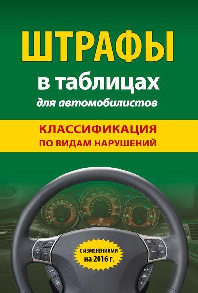 Штрафы в таблицах для автомобилистов с изменениями на 2016 год (классификация по видам нарушений)