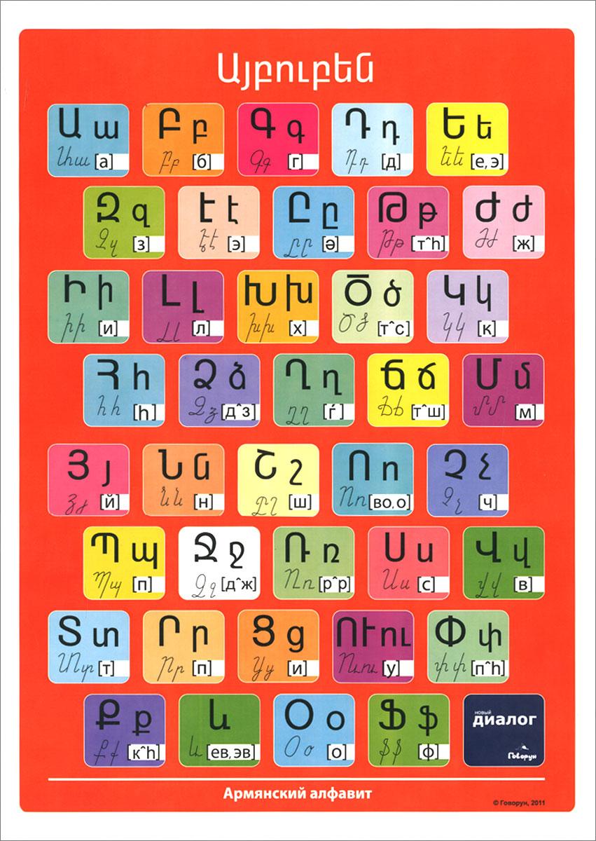 Армянский алфавит. Плакат