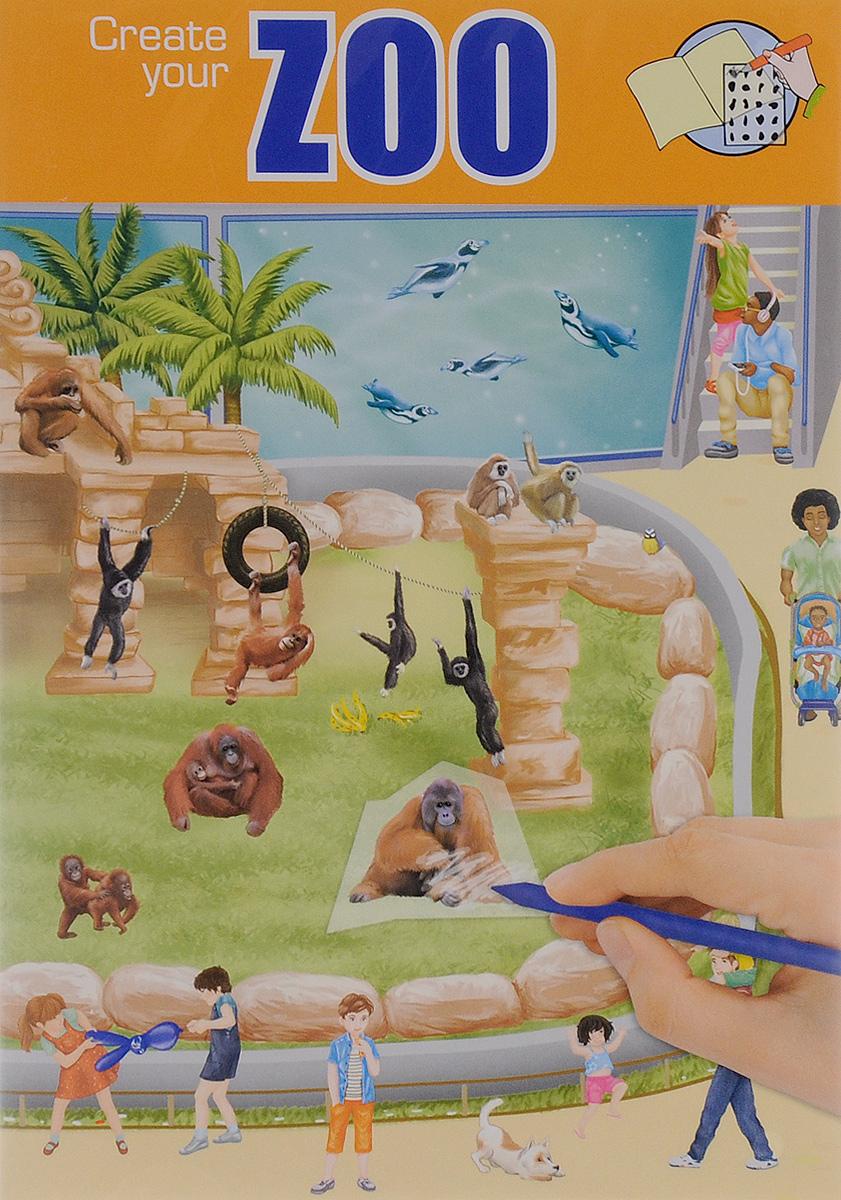 Creative Studio: Zoo. Альбом с переводными наклейками