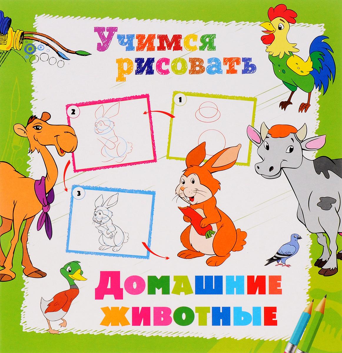 Домашние животные. Книжка-раскраска12296407Научим ребят рисовать! Многие малыши обожают рисовать! Рисование и раскрашивание - это не только интересное, но и очень полезное занятие. Мы создали серию книжек-раскрасок УЧИМСЯ РИСОВАТЬ, с которыми заниматься рисованием очень весело. Ваш ребенок сможет научиться рисовать животных, птиц, динозавров, фрукты, машины и многое другое, воспользовавшись пошаговыми советами художника. Желаем вам творческих успехов и хорошего настроения!