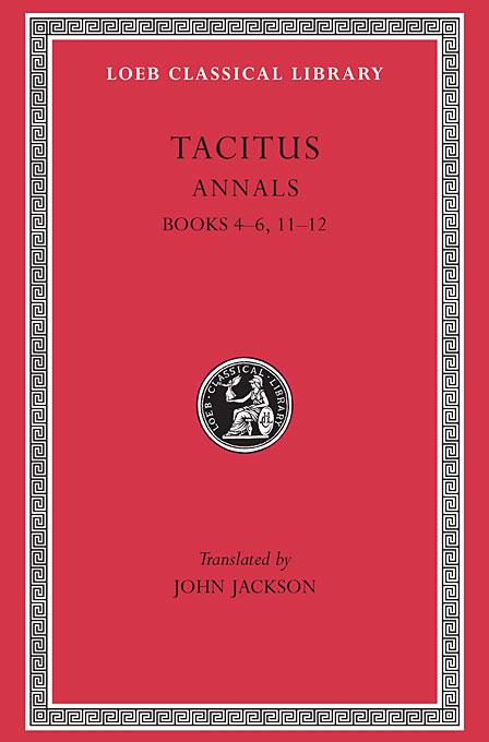 Annals IV–VI, XI–XII L312 V 4 (Trans. Jackson) (Latin)