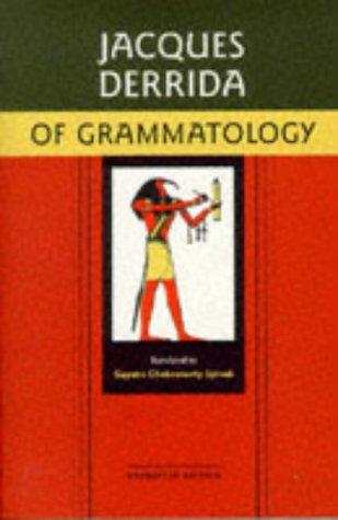 Of Grammatology, Corrected Edition