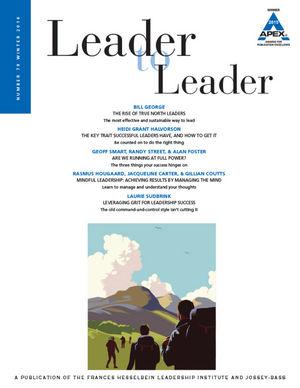Leader to Leader (LTL): Winter 2016