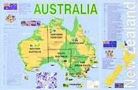 Australia. Карта