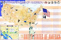 United States of America. Карта