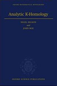 Analytic K-Homology (Oxford Mathematical Monographs)
