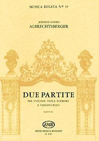 Johann Georg Albrechtsberger. Due partite per violino