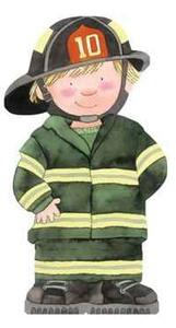 Fire Fghter (Mini People Shape Books)
