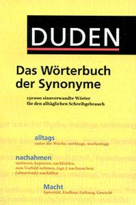 Das Woerterbuch der Synonyme