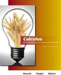 Calculus for Business, Economics, Life Sciences & Social Sciences (12th Edition) (Barnett Series)