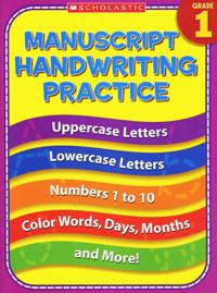 Manuscript Handwriting Practice: Grade 1