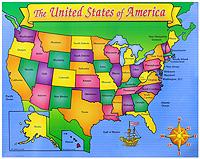 U.S.A. Map Friendly Chart