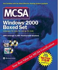 MCSA Windows(R) 2000 Boxed Set (Exams 70-210, 70-215,70-218)
