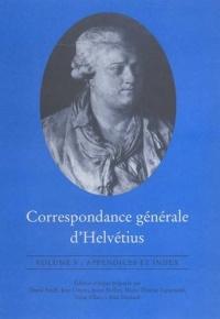 Correspondance Generale D'Helvetius (University of Toronto Romance Series)