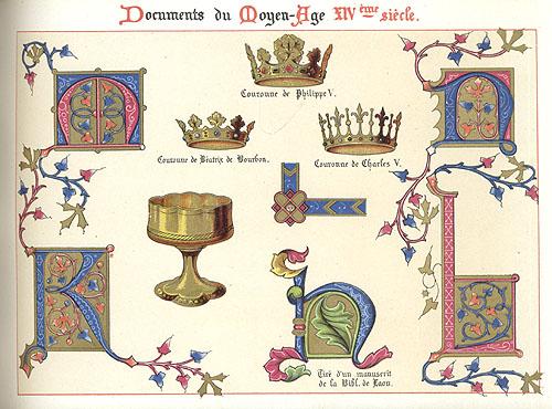 Ornementation des Manuscrits au Moyen Age. XIV Siecle