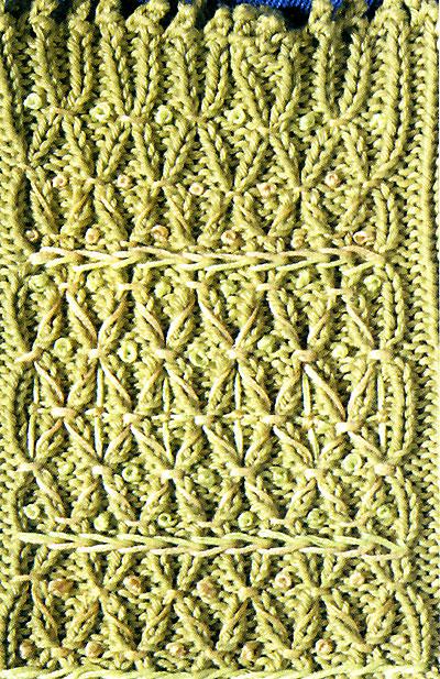 Декоративное вязание спицами