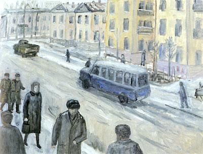 """Michel Roginsky """"Zone pietonniere"""". Peintures"""