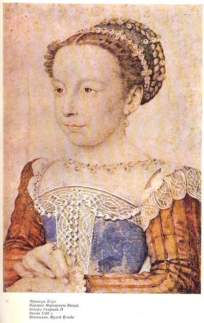 Французский карандашный портрет XVI века
