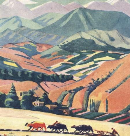 Пейзажи Армении М. Сарьяна