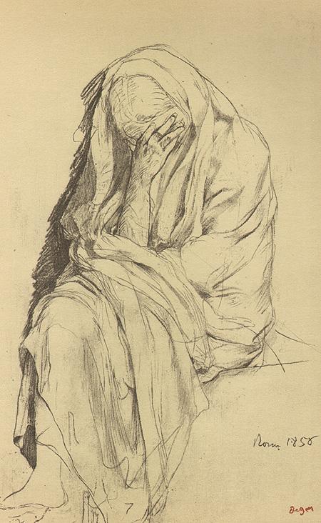 Edgar Degas. Kresby