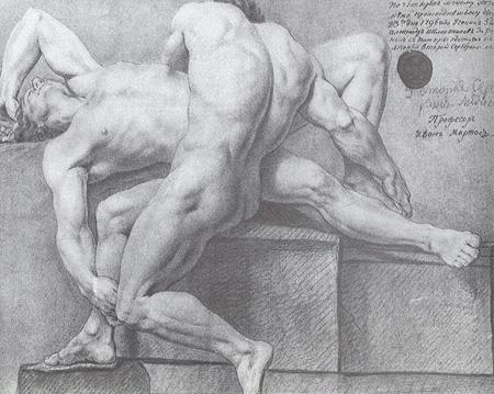 Учебный рисунок в Академии художеств
