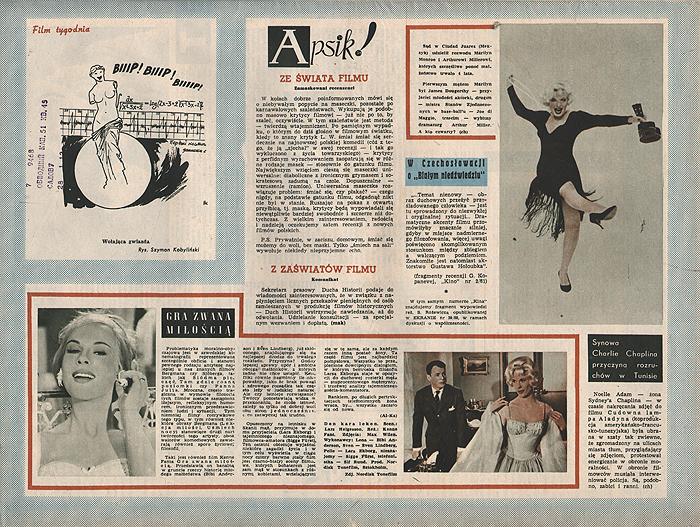 """Журнал """"Ekran"""". № 9 (203) за 1961 год"""
