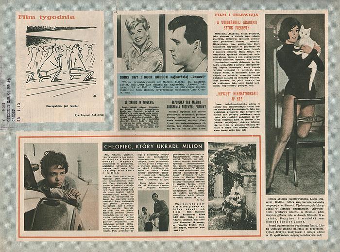 """Журнал """"Ekran"""". № 20 (214) за 1961 год"""