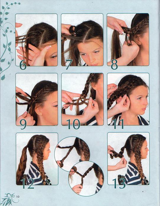 Роскошные прически из кос, жгутов, узлов и хвостиков. Идеи для праздников и на каждый день