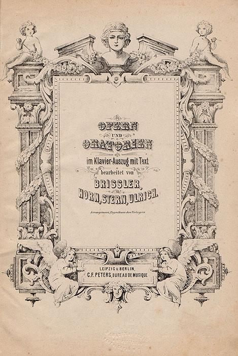 Opern und oratorien im Klavier-Auszug