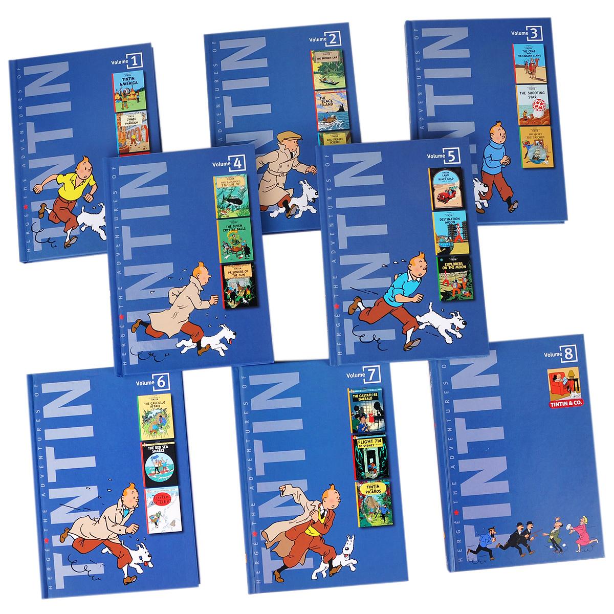The Adventures of Tintin (комплект из 8 книг) ( 9780316006682, 978-0-316-00668-2, 0-316-00668-8 )