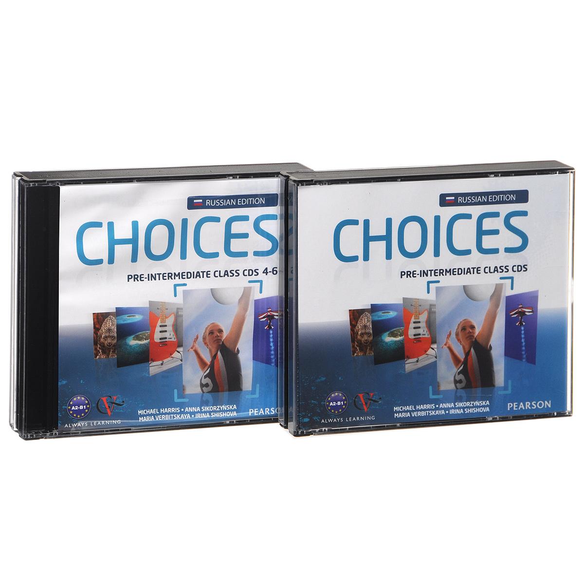 Choices: Pre-Intermediate: Class CDs (аудиокурс на 6 CD)