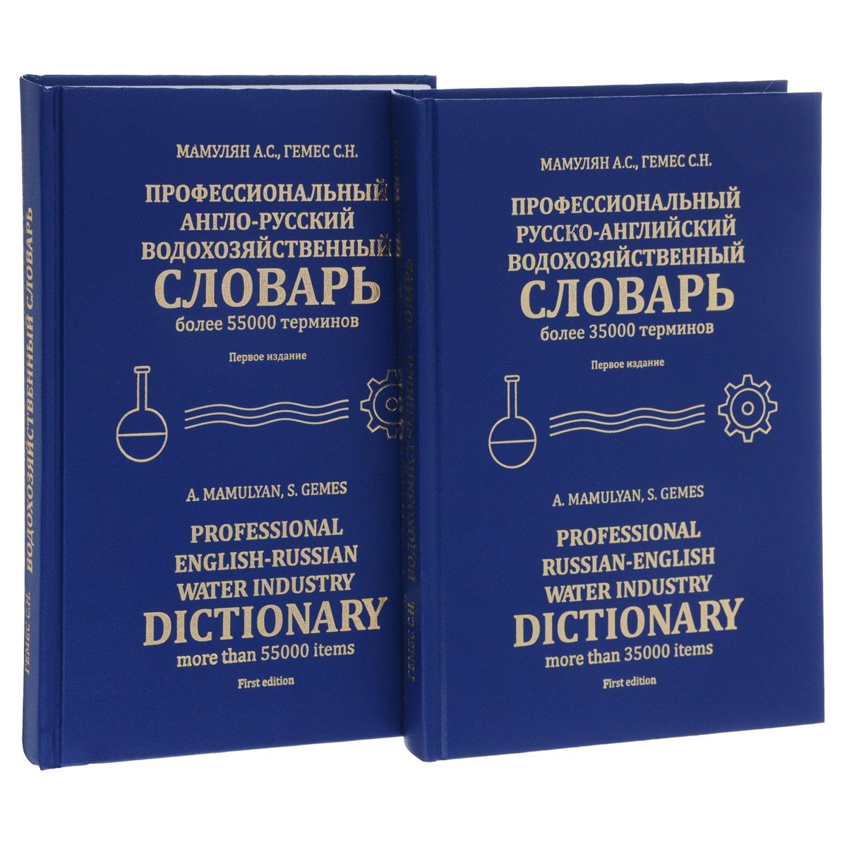 Профессиональный англо-русский водохозяйственный словарь (комплект из 2 книг)