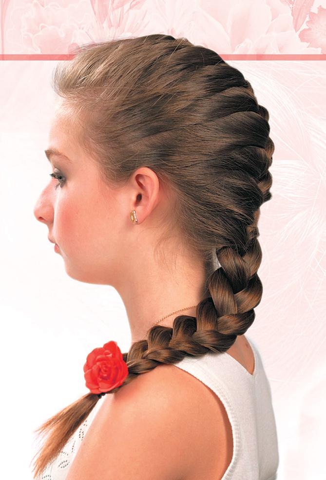 Варианты причесок из кос