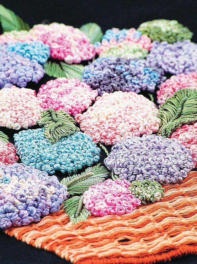 Бразильская вышивка. Цветочные мотивы