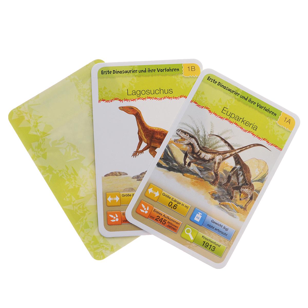 Dinosaurier: Buch mit 32 Quartettkarten