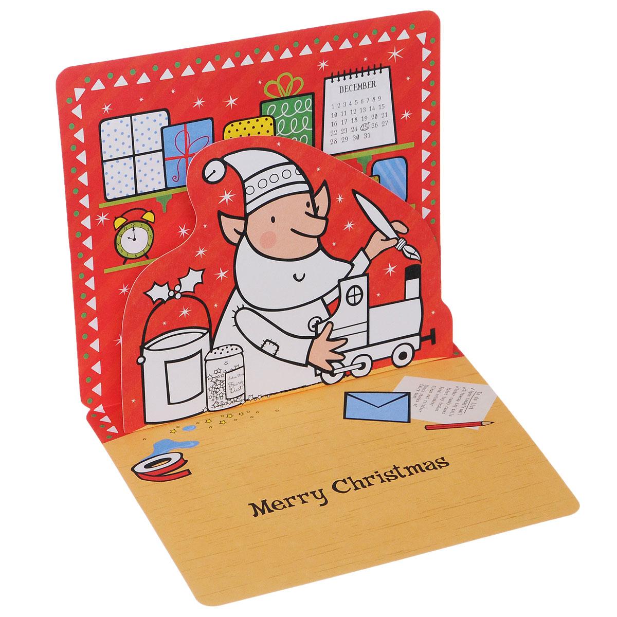 20 Pop-up Christmas Cards to Colour (набор из 20 открыток с конвертами)