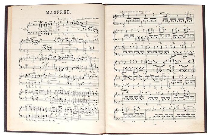 Manfred, Op. 115. Klavierauszug