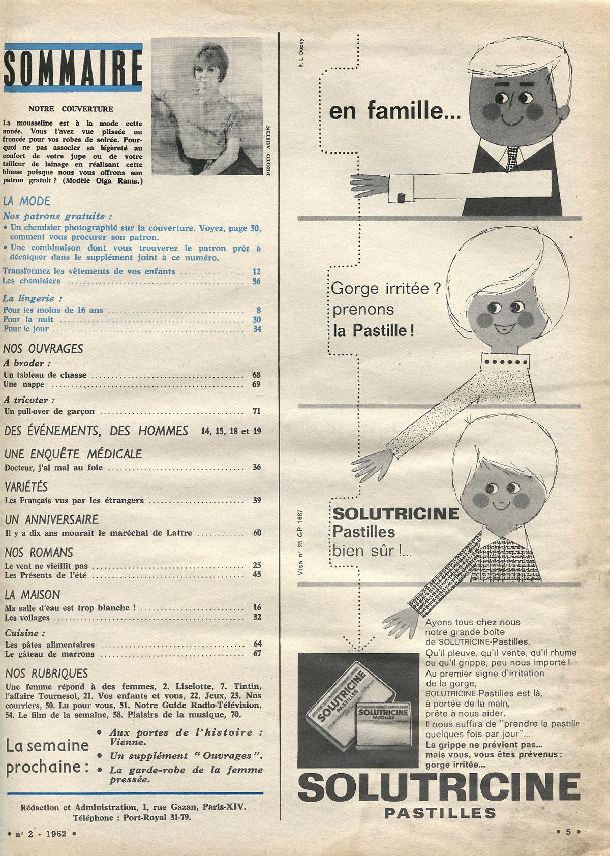 Echo de la mode, №2, janvier, 1962