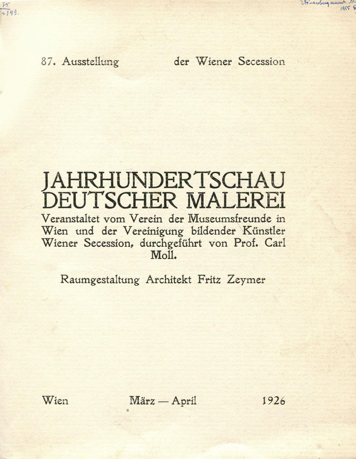 Jahrhundertschau deutscher malerei