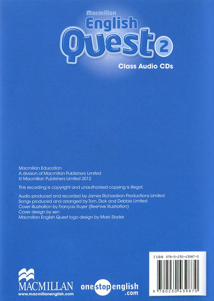 Macmillan English Quest 2: Class Audio CDs (аудиокурс CD)