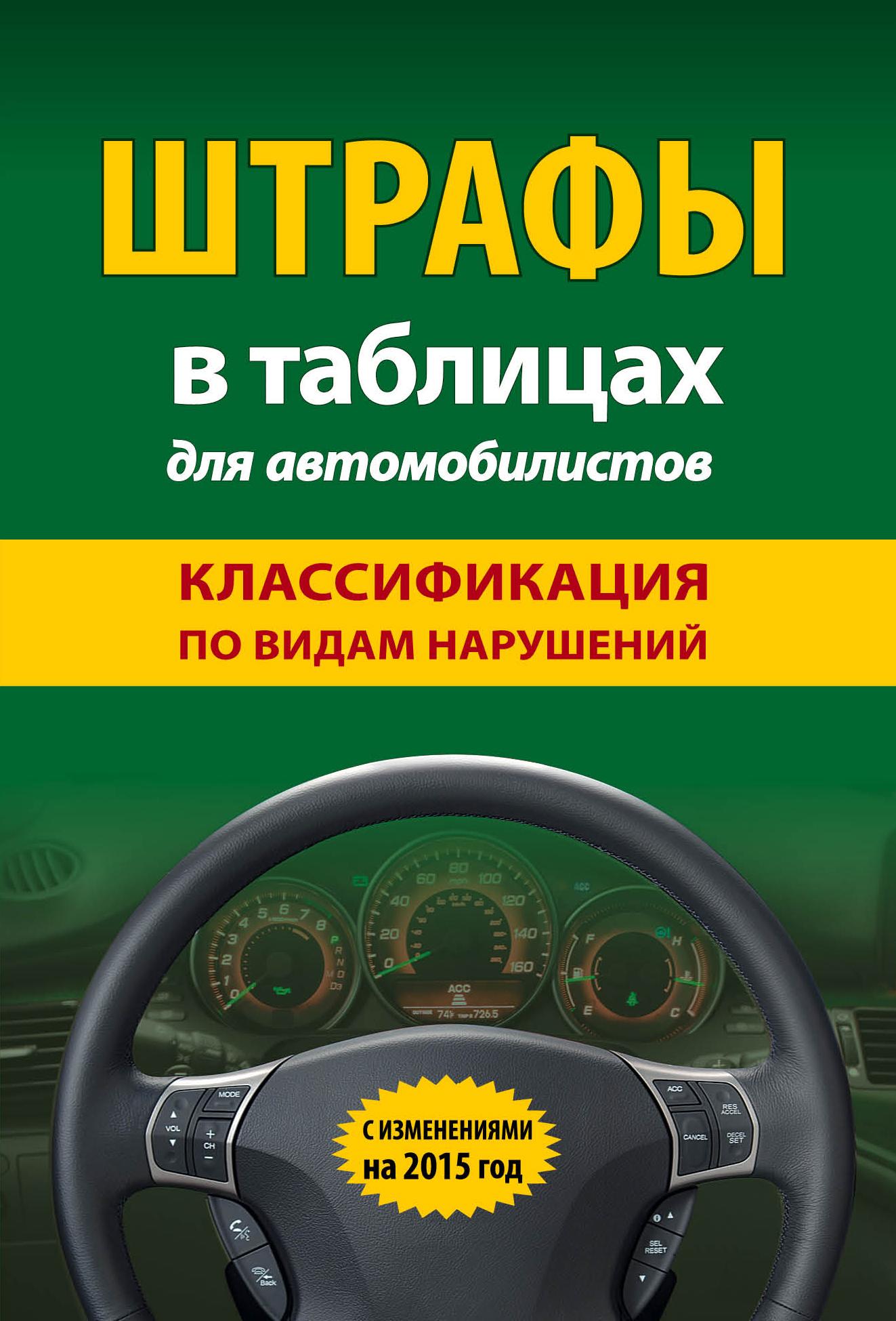 Штрафы в таблицах для автомобилистов с изменениями на 2015 год. Классификация по видам нарушений