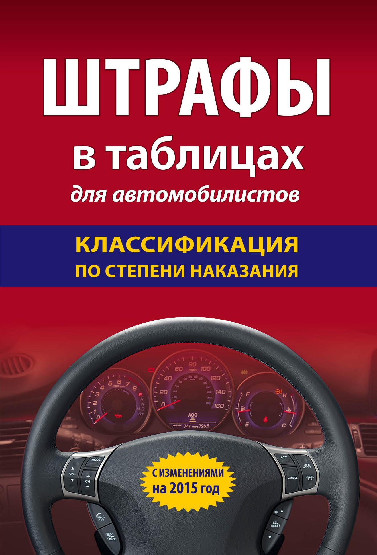 Штрафы в таблицах для автомобилистов с изменениями на 2015 год. Классификация по степени наказания