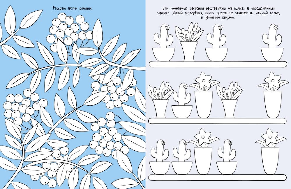 Растения. Рисуем, раскрашиваем, играем