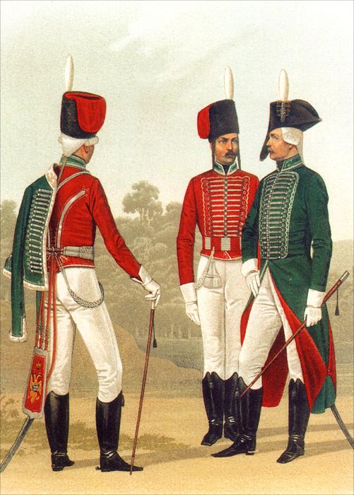 Форма одежды лейб-гвардии Гусарского его величества полка (набор из 15 открыток)
