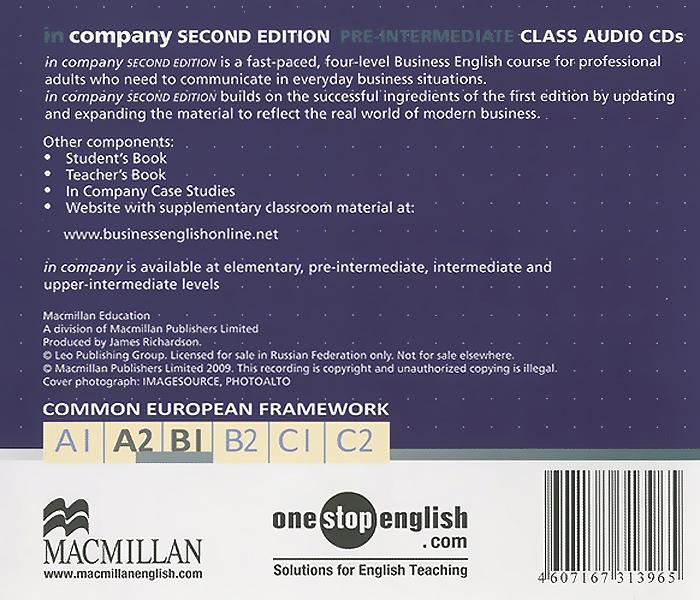 In Company: Pre-Intermediate A2, B1 (аудиокурс на 2 CD)