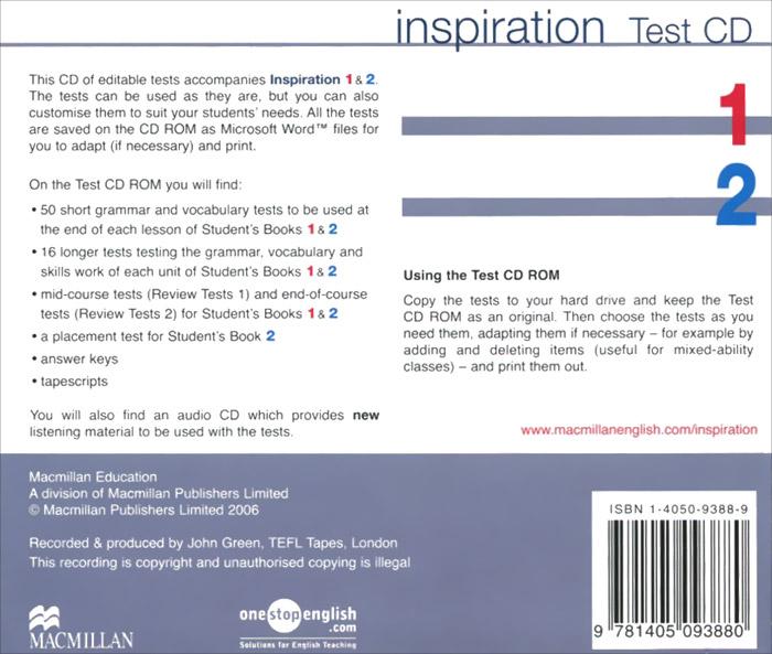 Inspiration: Test CD: Level 1, 2 (���������� �� 2 CD)