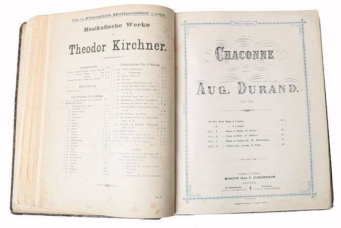 Сборник нот для игры на флейте и фортепиано (конволют)